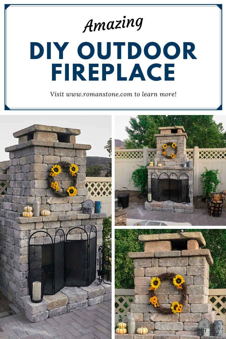 Fremont Diy Outdoor Fireplace Kit Shop Romanstone For Impressive Kits You Can Build In A Weekend Fireplace Kits Outdoor Fireplace Diy Outdoor Fireplace