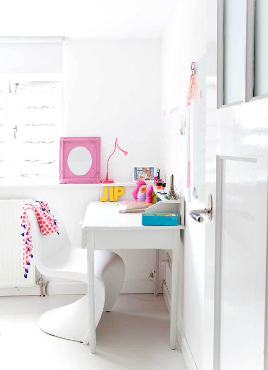 beautiful white desk Kids Pinterest White desks, Desks and - White Interior Design