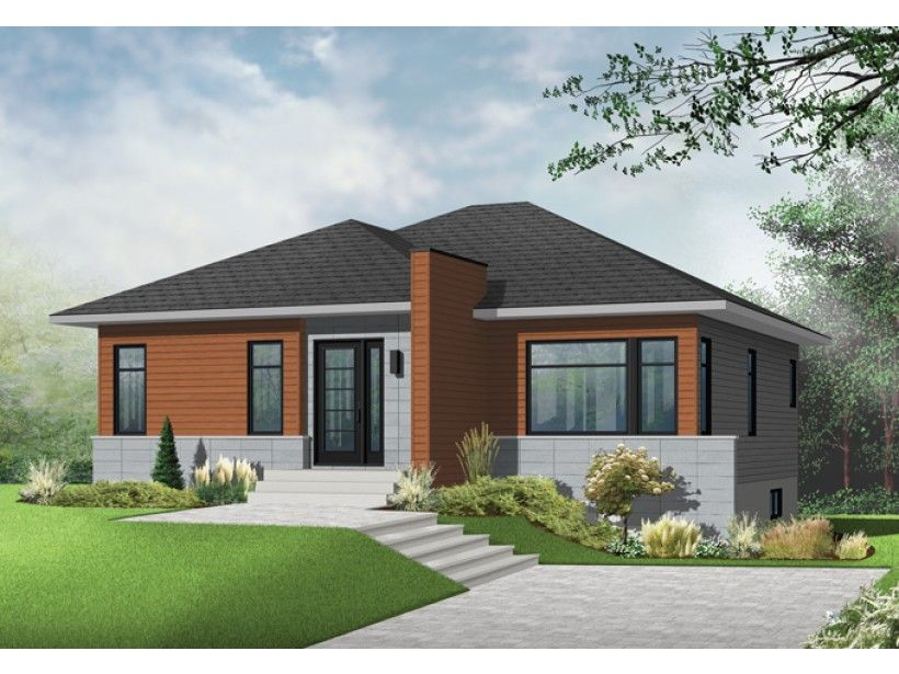 Eplans modern contemporary house plan understated contemporary 1158 square feet and 2 bedrooms