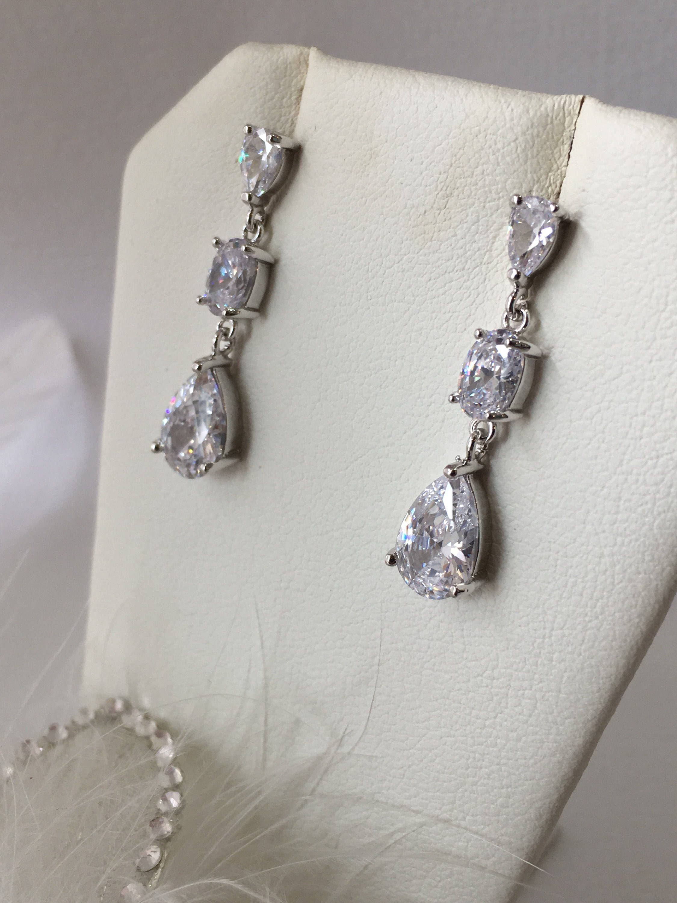 marquise pear lynne teardrop cz collections earrings jewels and on clip bridal cassandra day drop wedding classic