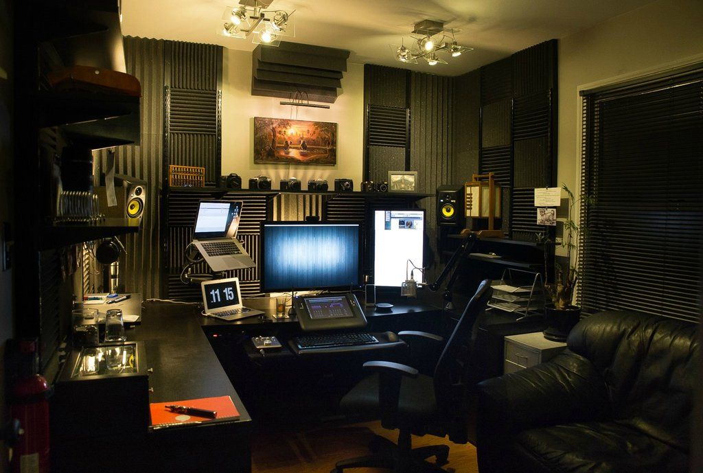 Excellent Diy Home Office Studio Command Center Gaming Room Office Ideas Largest Home Design Picture Inspirations Pitcheantrous