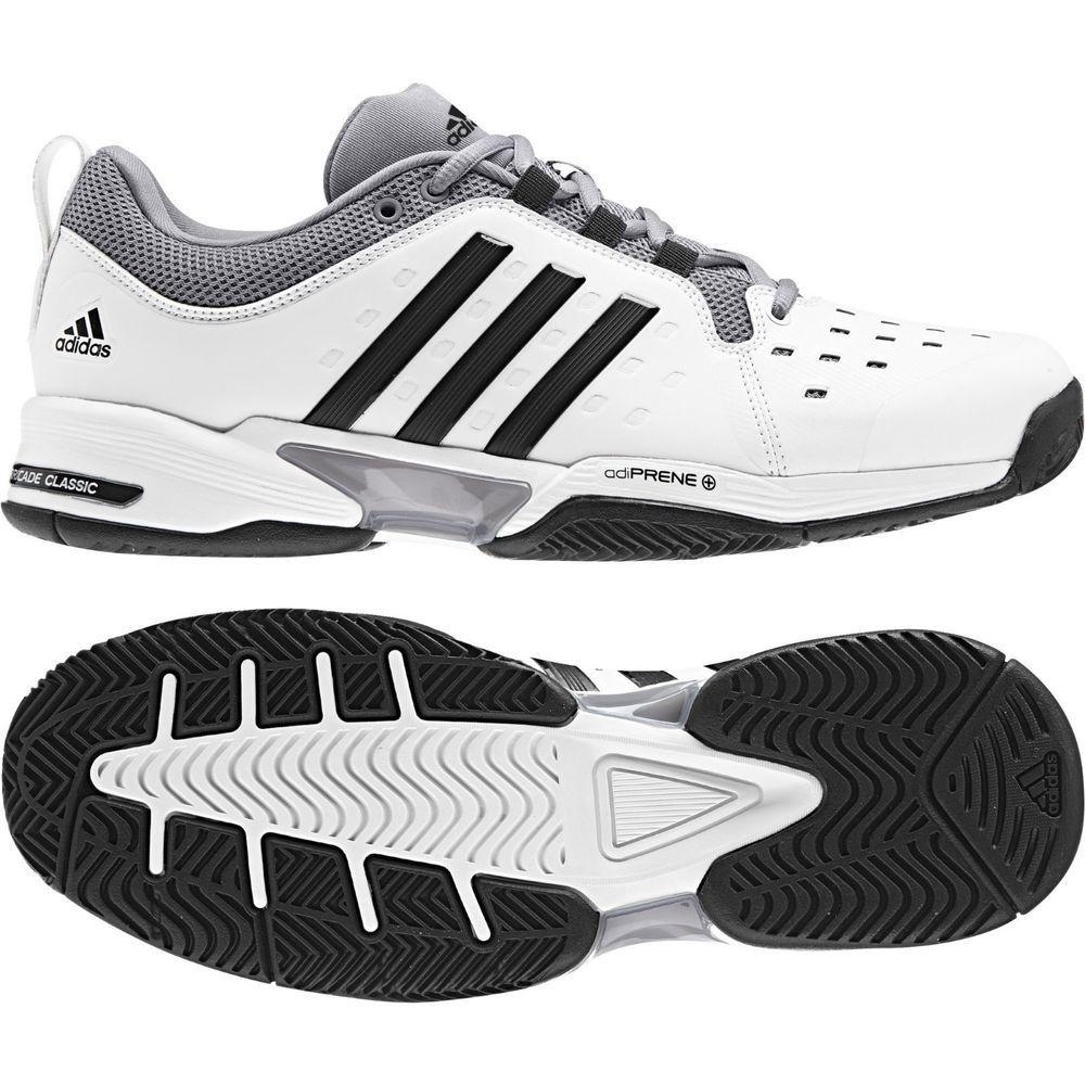 decb6541458e8 adidas Barricade Classic Wide Men s Tennis Shoes Racquet Racket White NWT  BY2920  adidas Adidas Barricade