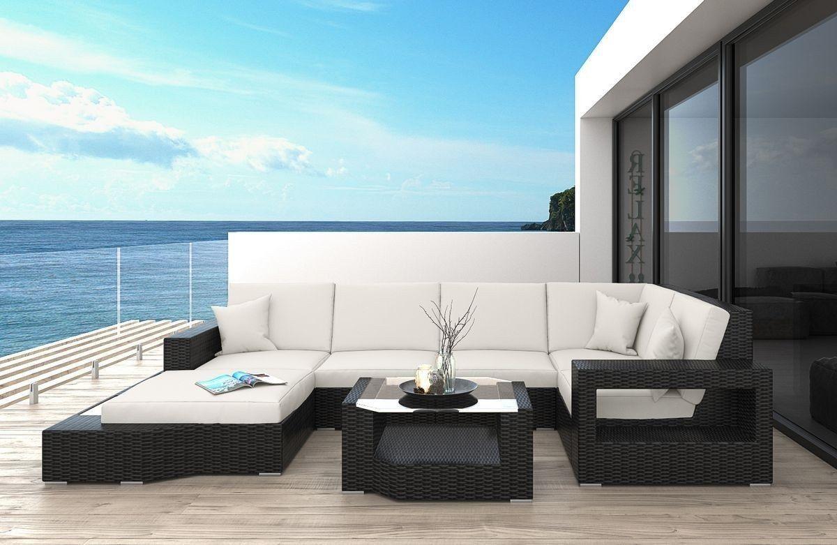 Rattan Sofa Messana Aus Rattan In Der U Form Rattan Gartenmobel Polyrattan Sofa Sofa U Form Gartenmobel