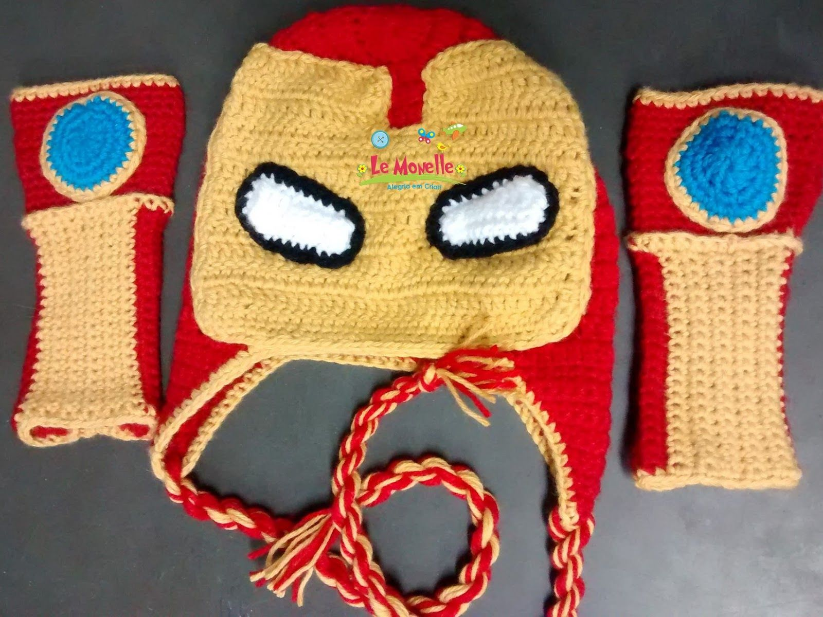 Touca Croche Homem de Ferro  7839b62db88