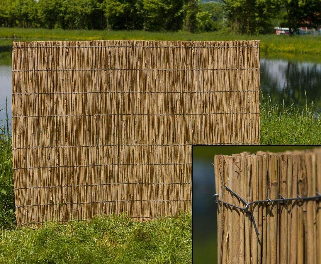 Schilfrohr Platte Fur Sichtschutz 100x200cm Mit 5cm Materialstarke