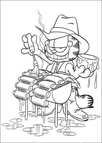 It S A Grill Time Coloring Page Cartoon Coloring Pages Coloring
