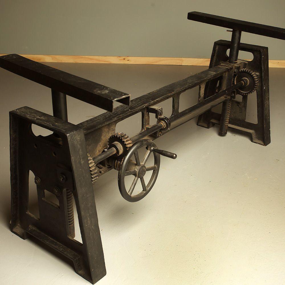 Cast iron adjustable height crank table  Basement