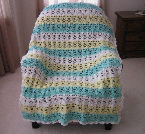 Springtime Lace Easy Crochet Afghan Pattern | Pinterest | Colchas ...