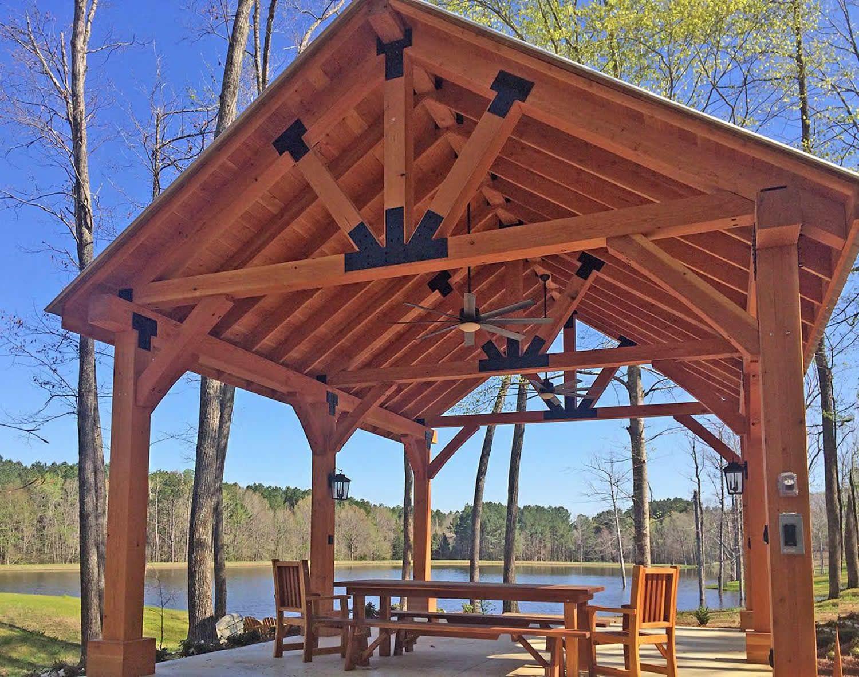 The toledo pavilion options l w douglas fir post