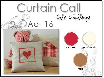Stacey's Stamping Stage: Curtain Call Color Challenge: Act 16. Real Red, Kraft, Vanilla