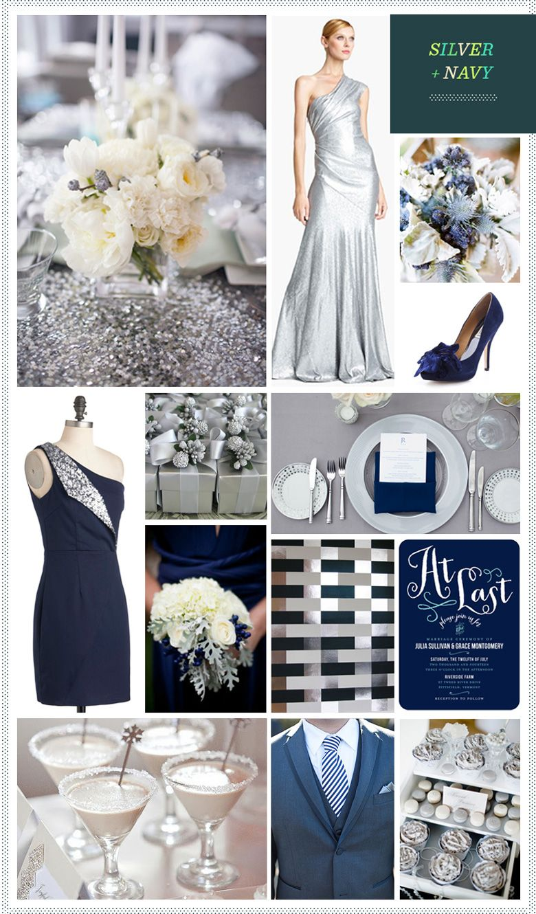 Silver navy blue wedding u wedding ideas for brides grooms