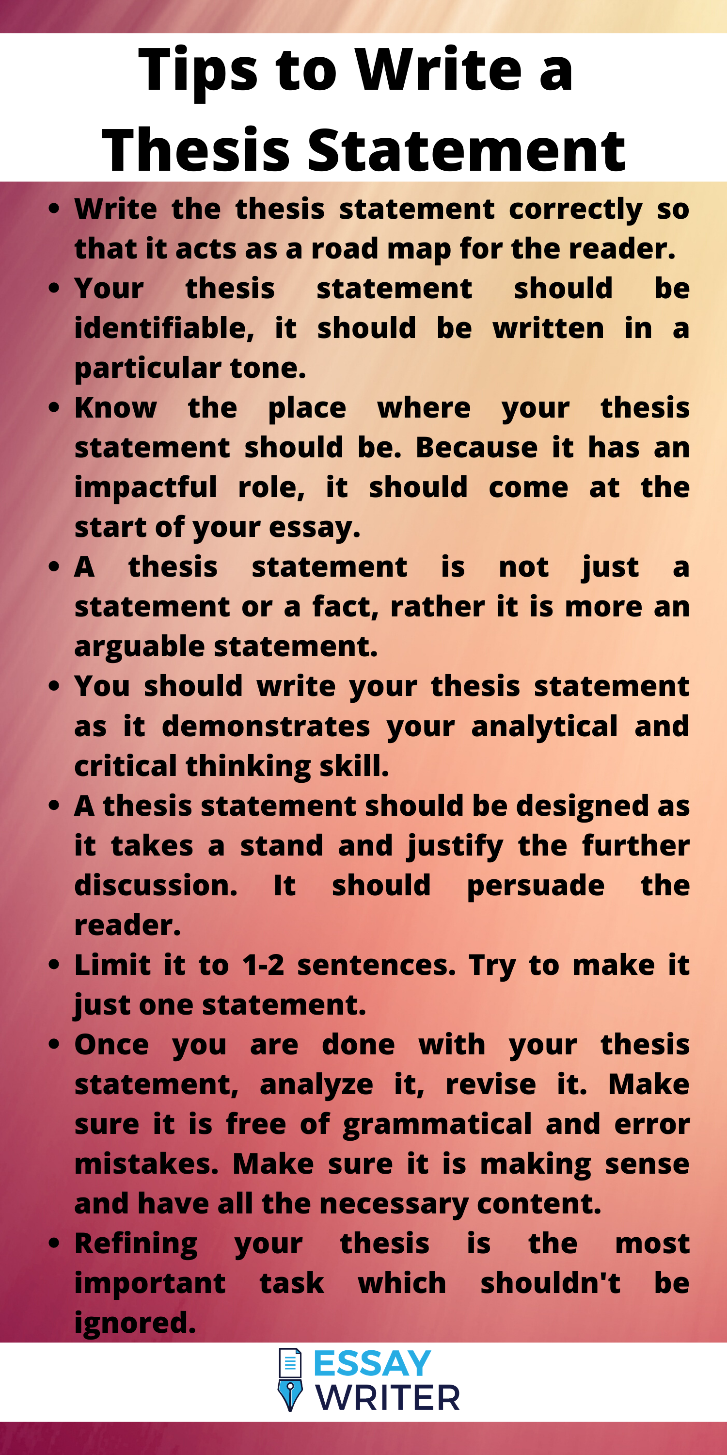 Writing An Effective Thesis Statement Is Very Important