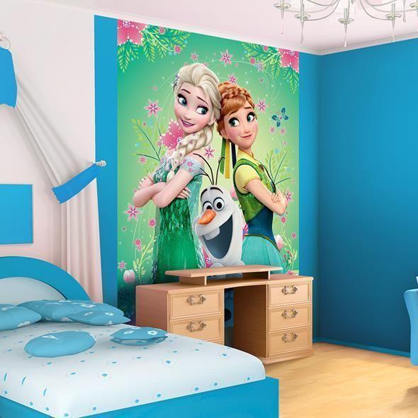 foto fototapete fototapeten tapete kindeer frozen elsa anna sven 3fx3085p4a kinderzimmer. Black Bedroom Furniture Sets. Home Design Ideas