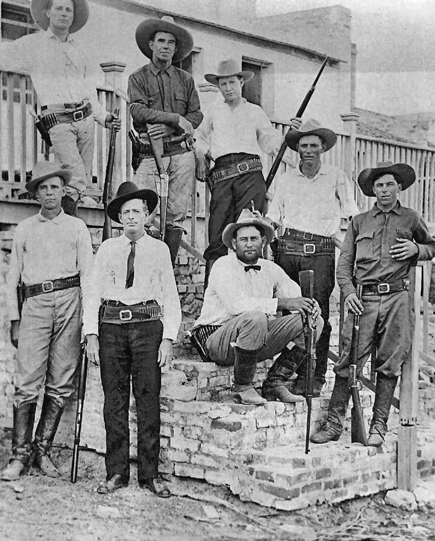 Legal History: Texas Rangers Working Near The Rio Grande, Abt 1910