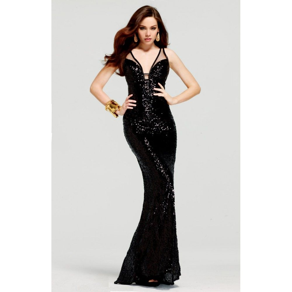 Long black sequin prom dress Đầm dạ hội pinterest prom dresses