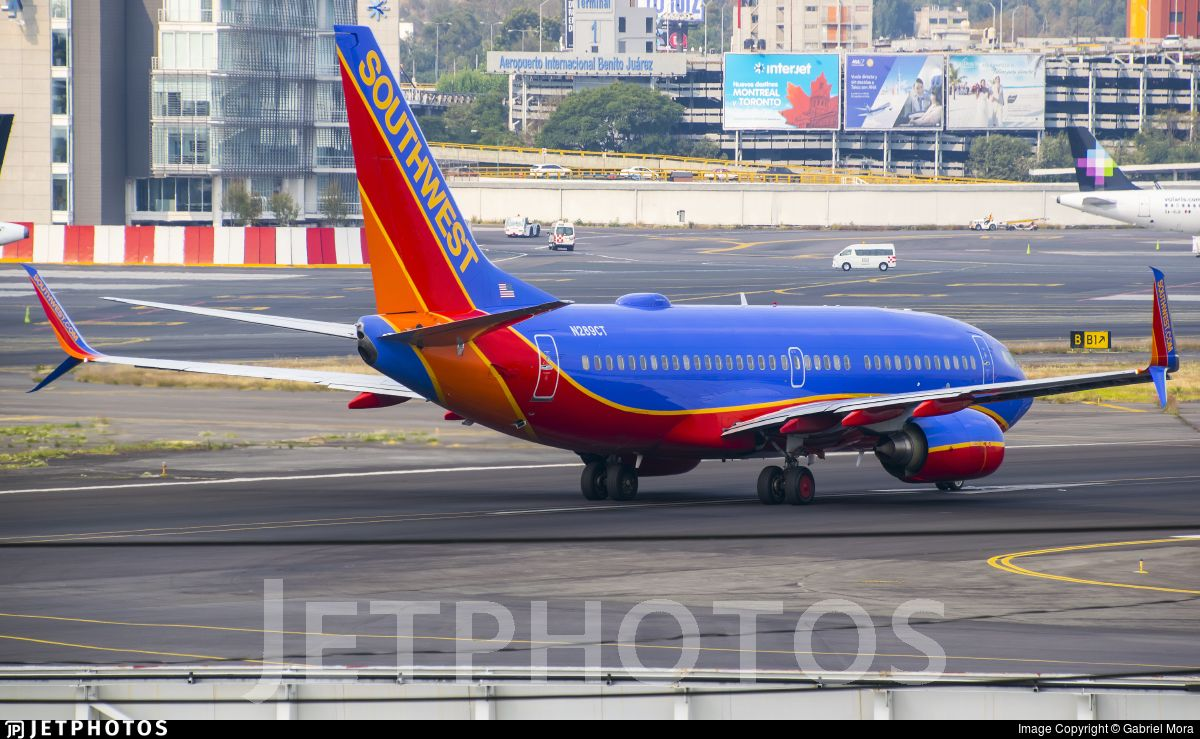 Airline Southwest Airlines Registration N289CT Aircraft