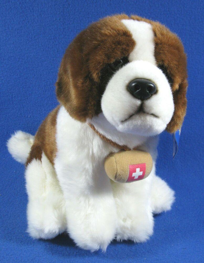 Toys R Us St Bernard Plush 11 Puppy Dog Rescue Barrel 2013 Soft
