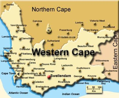 Swellendam map | Overberg, Garden Route & Winelands | Provinces of
