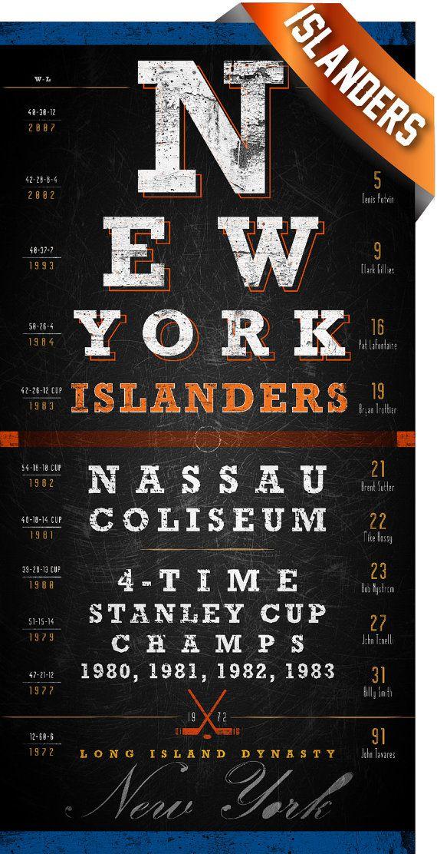New York Islanders Eye Chart Center Ice Series Perfect Valentines Birthday Gift Unframed Print New York Islanders Eye Chart John Tavares