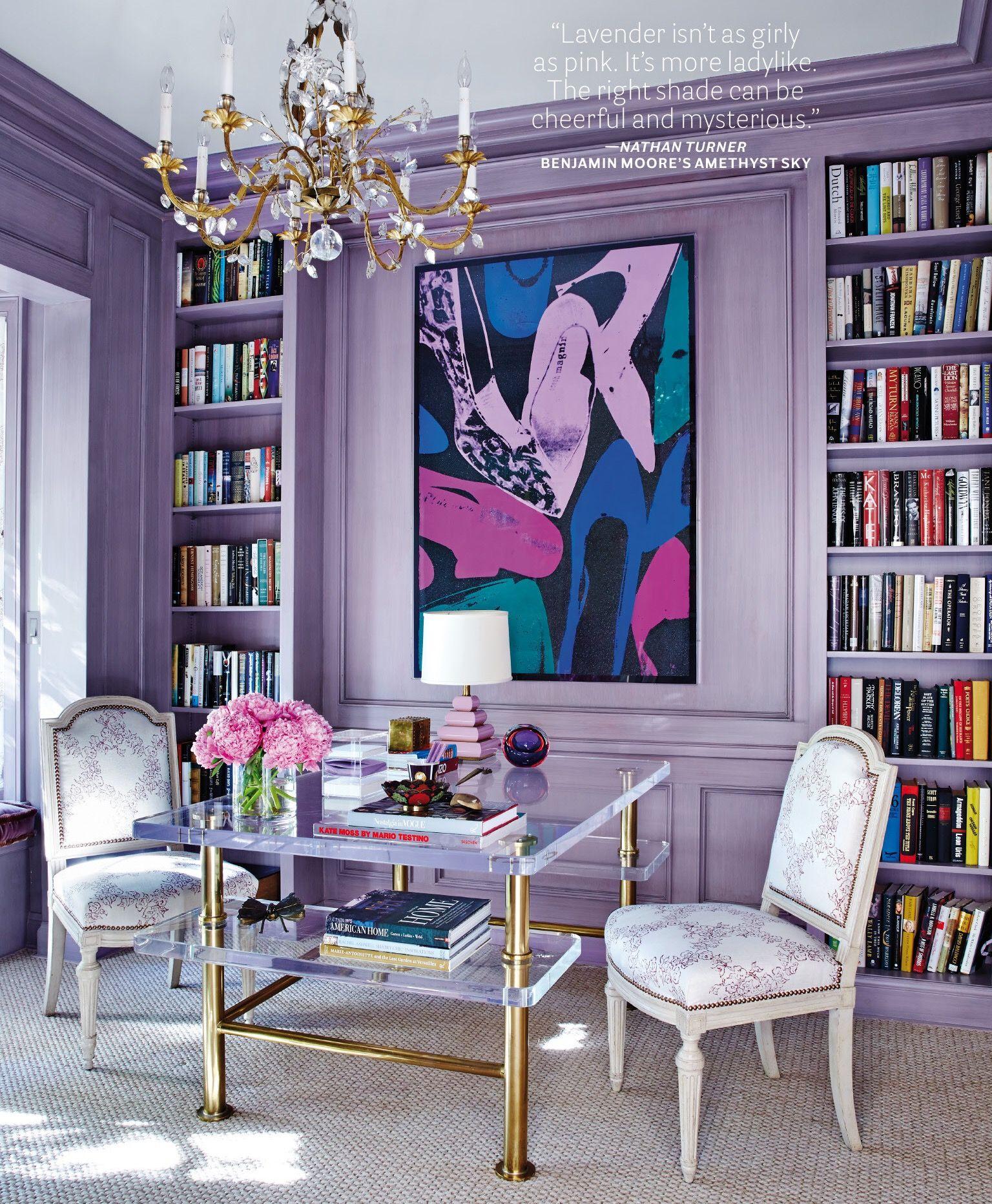Ultra Violet Bleu Purple Walls Rooms Living Room Decor