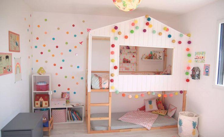la chambre multicolore basephine lit cabane kura hack lit kura kids room chambre enfant - Lit Kura