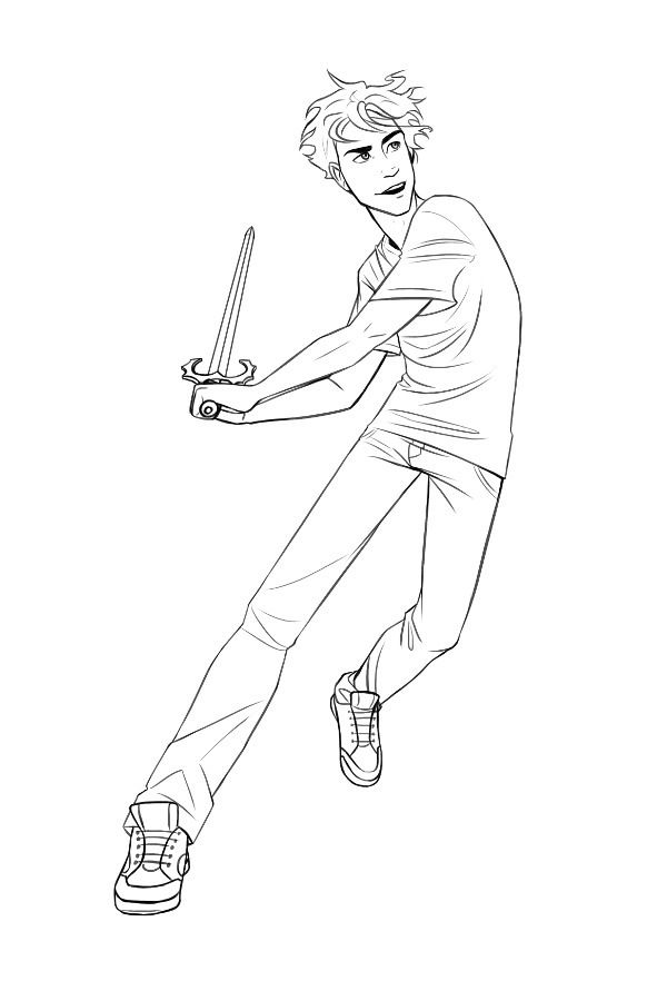 Percy Jackson coloring page! For when you can't draw that