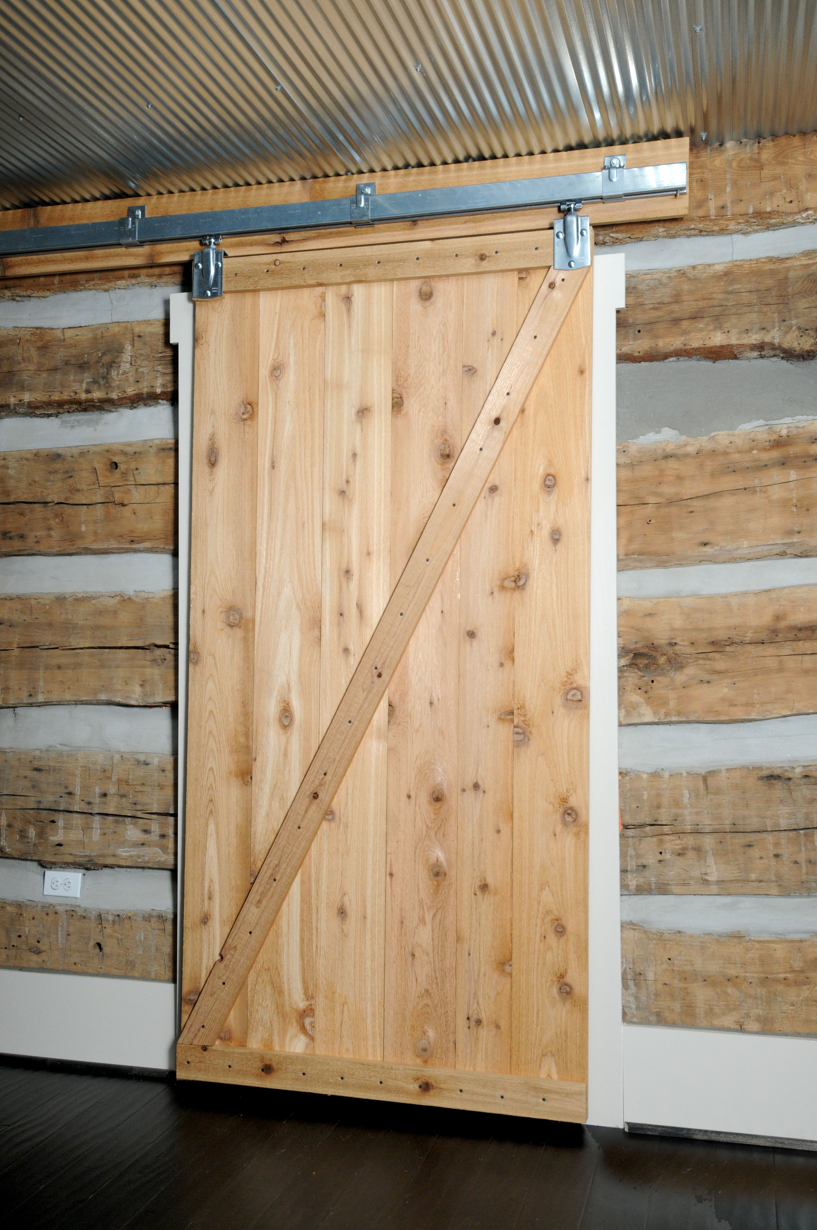 Laundry Room Door In A Log Cabin Home Small Cabin
