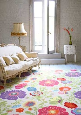 Fl Trail Rug By Knots Rugs Uk Available From Mills And Kina Interior Design
