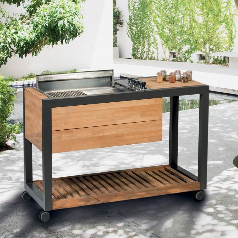 Modern Garden Kitchen Trolley Gazzboy By Indu With Gas Grill Camas Metalicas Muebles De Cocina Muebles De Metal