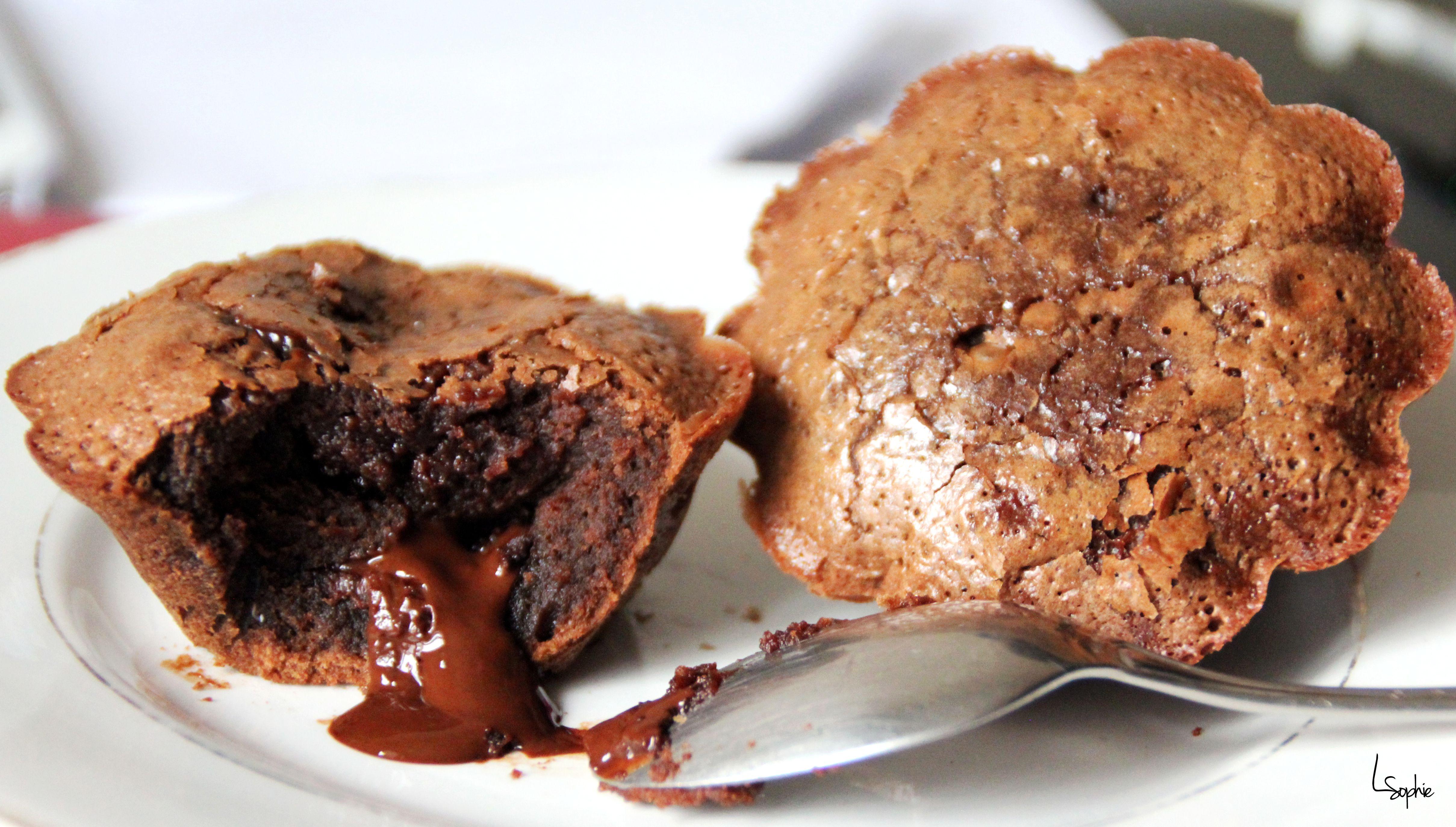 Moelleux tout chocolat avec coeur fondant. Simplement parfait!