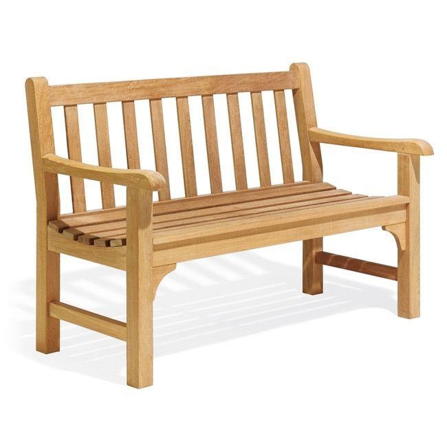 Oxford Garden Essex 48 inch Bench (Natural), Brown, Patio Furniture ...