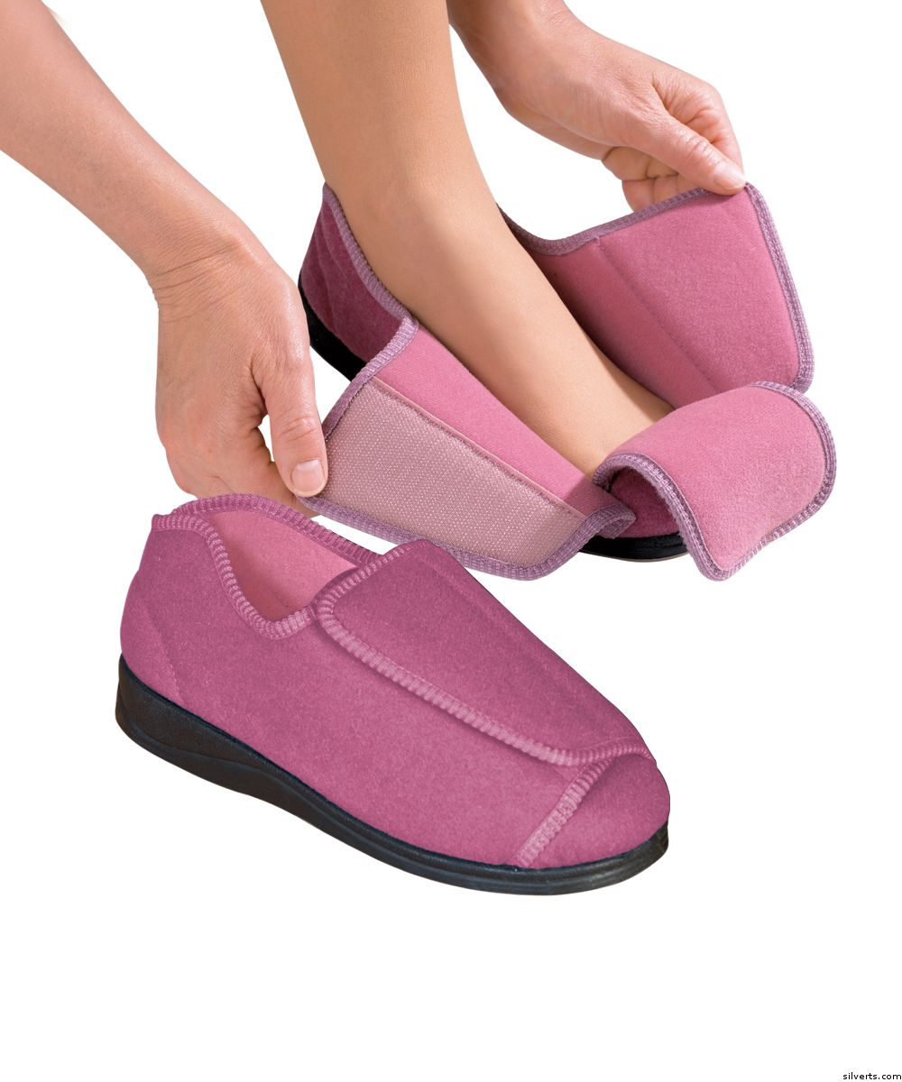 Womens extra extra wide width adaptive slippers deep - Bedroom slippers for plantar fasciitis ...