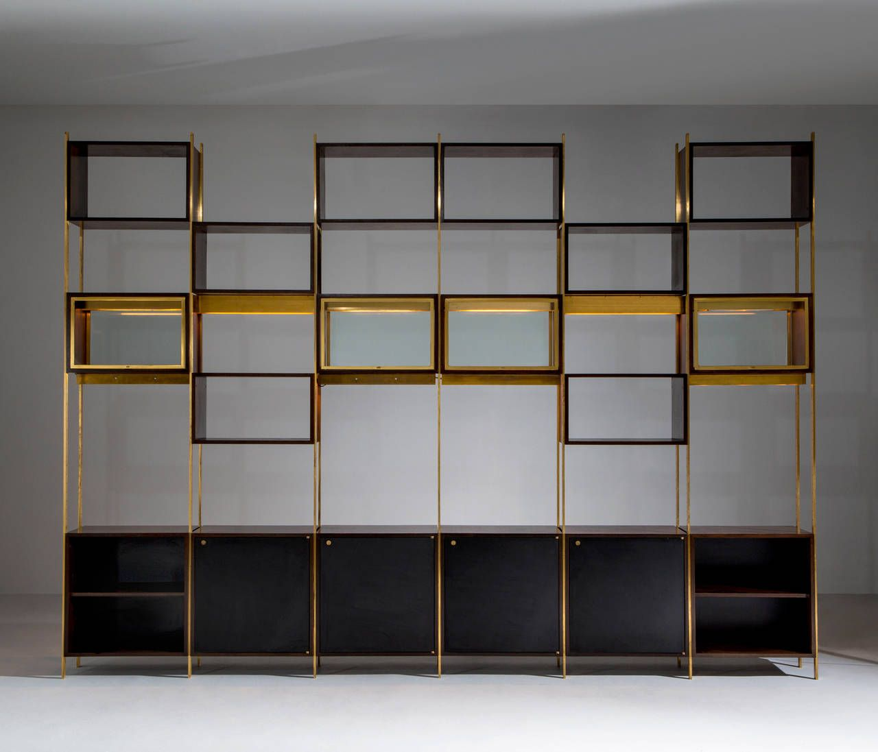 16 Enchanting Modern Entrance Designs That Boost The: Exceptional Rare Large Library Cabinet By Jules Wabbes