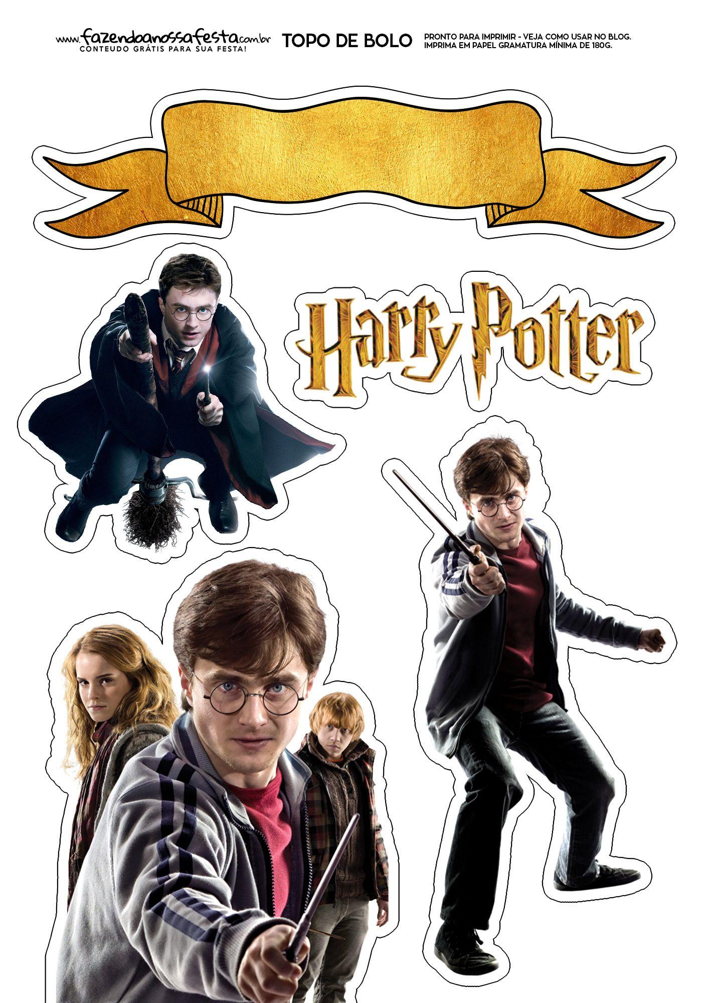 Uau! Veja o que temos para Topo de Bolo Harry Potter