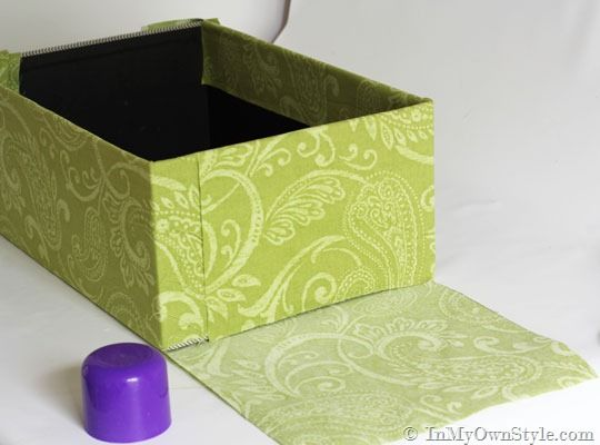 Decorative Fabric Boxes How To Cover A Box With Fabric To Use As Storage Or Gift Giving