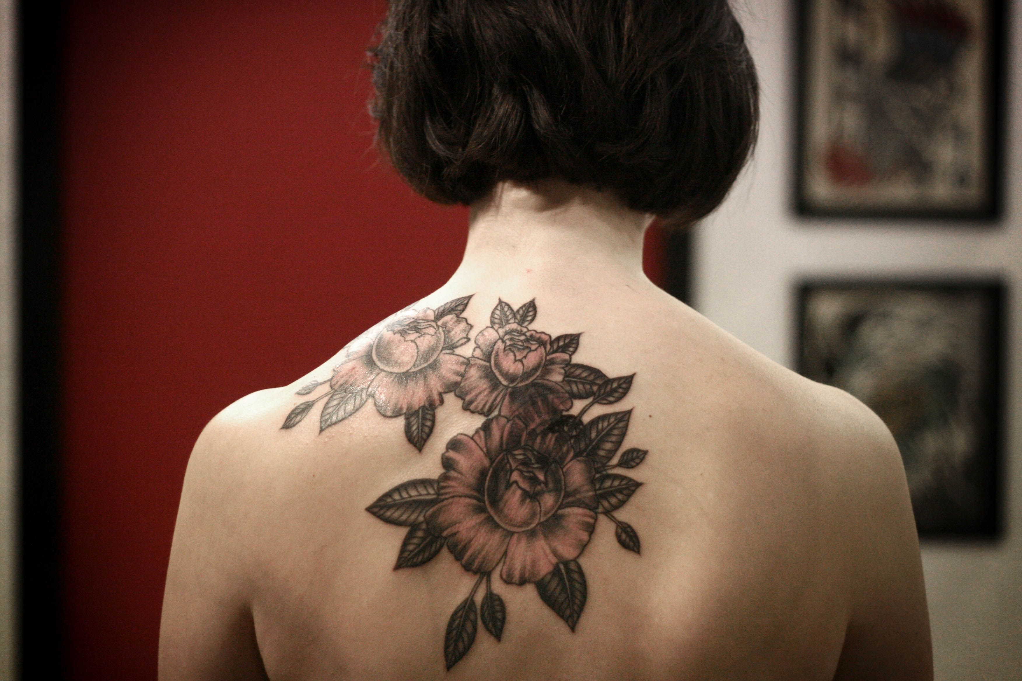 Alice Carrier Is A Tattoo Artist At Wonderland Tattoo In: Floral Cover Up By Alice Carrier At Anatomy Tattoo In