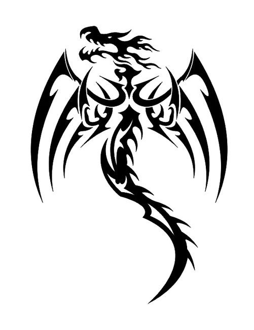Tribal Dragon Symbol Tattoo Free Design Ideas Tattoo Pinterest