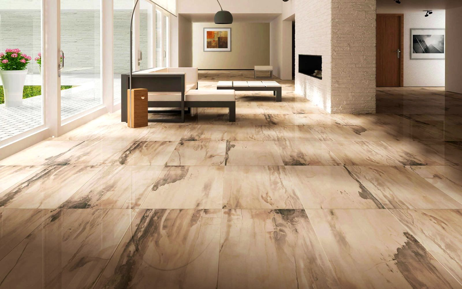 Apartments:Knockout Tagged Floor Tiles Design For Living Room ...