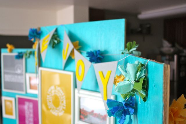 Colorful craft show booth backdrop
