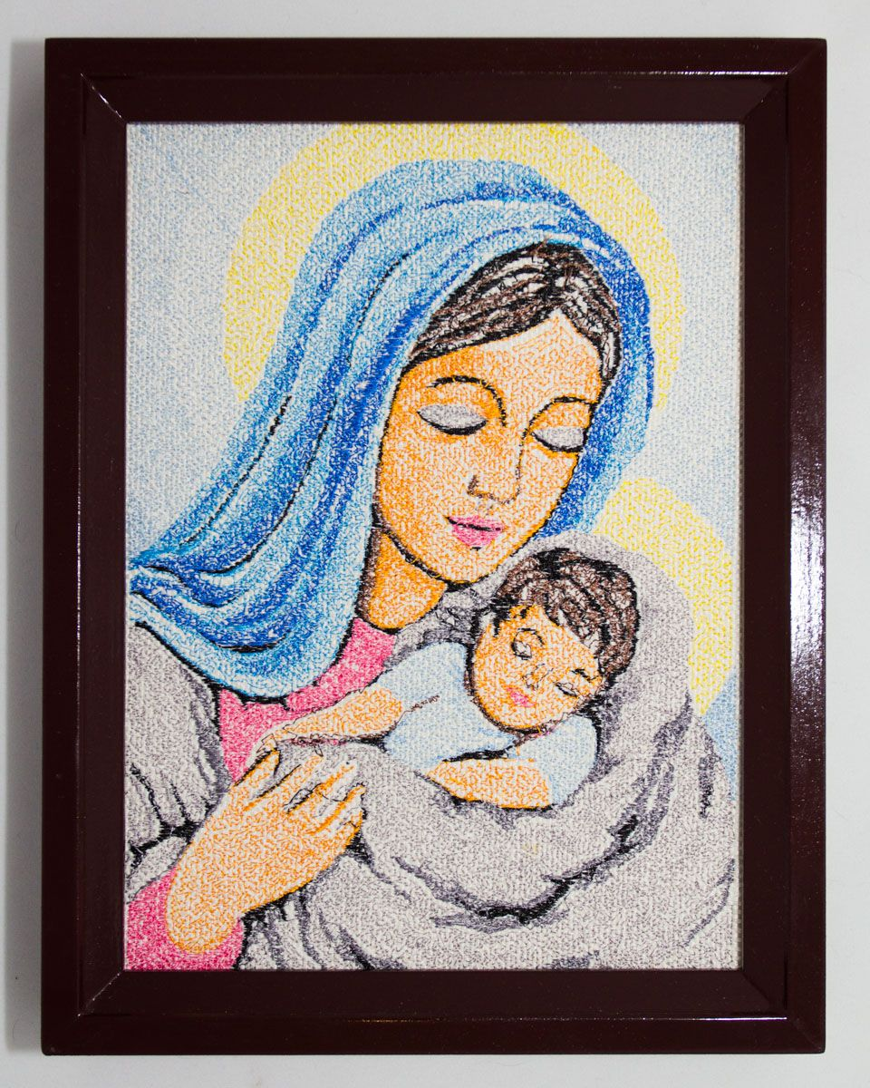 Embroidered icon madonna and child catholic icon easter gift embroidered icon madonna and child catholic icon easter gift mothers day negle
