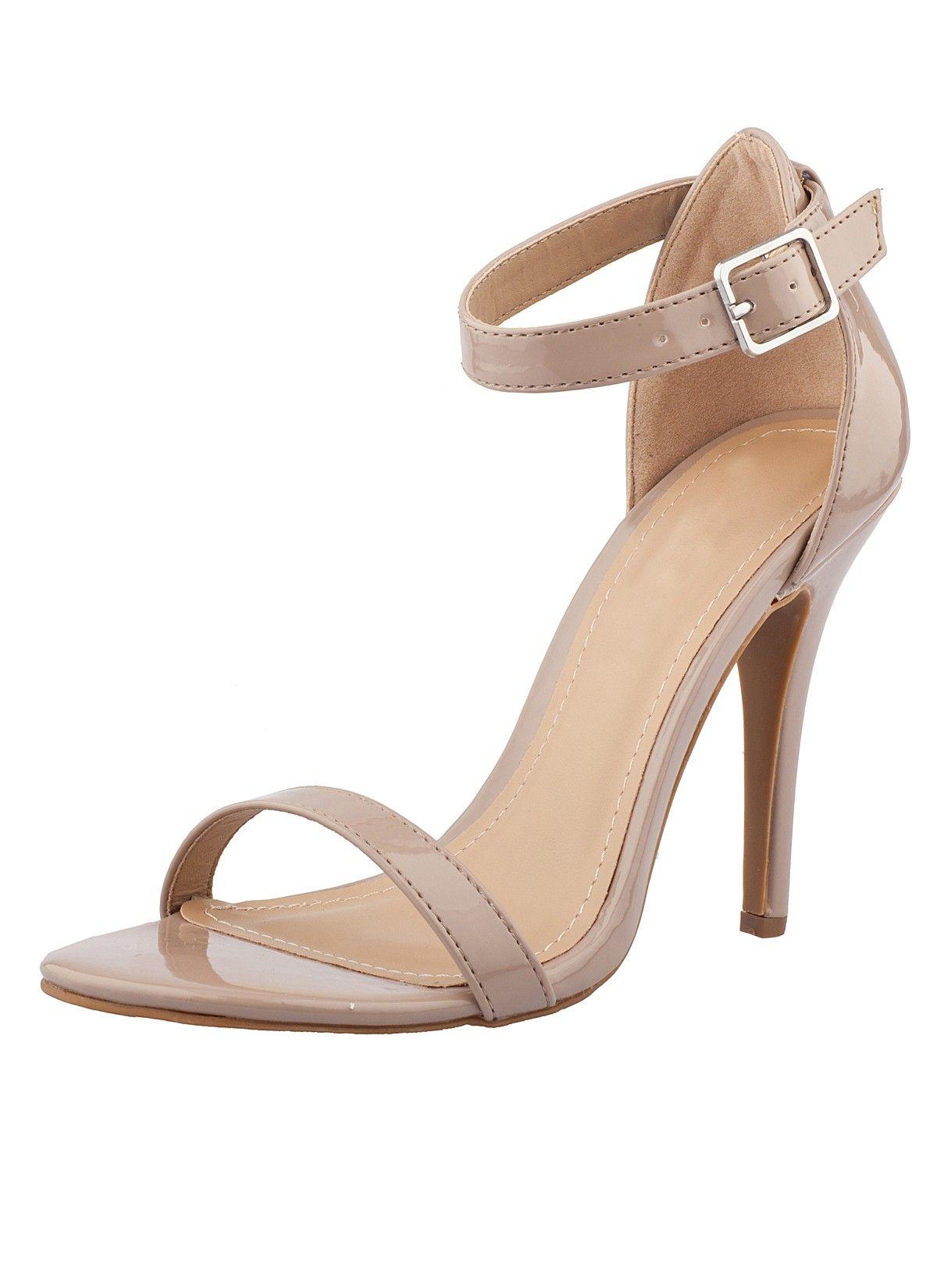 a4b707ef9c09 Shop Prima Donna - Sambista Ankle Strap Heels Nude at Prima donna ...