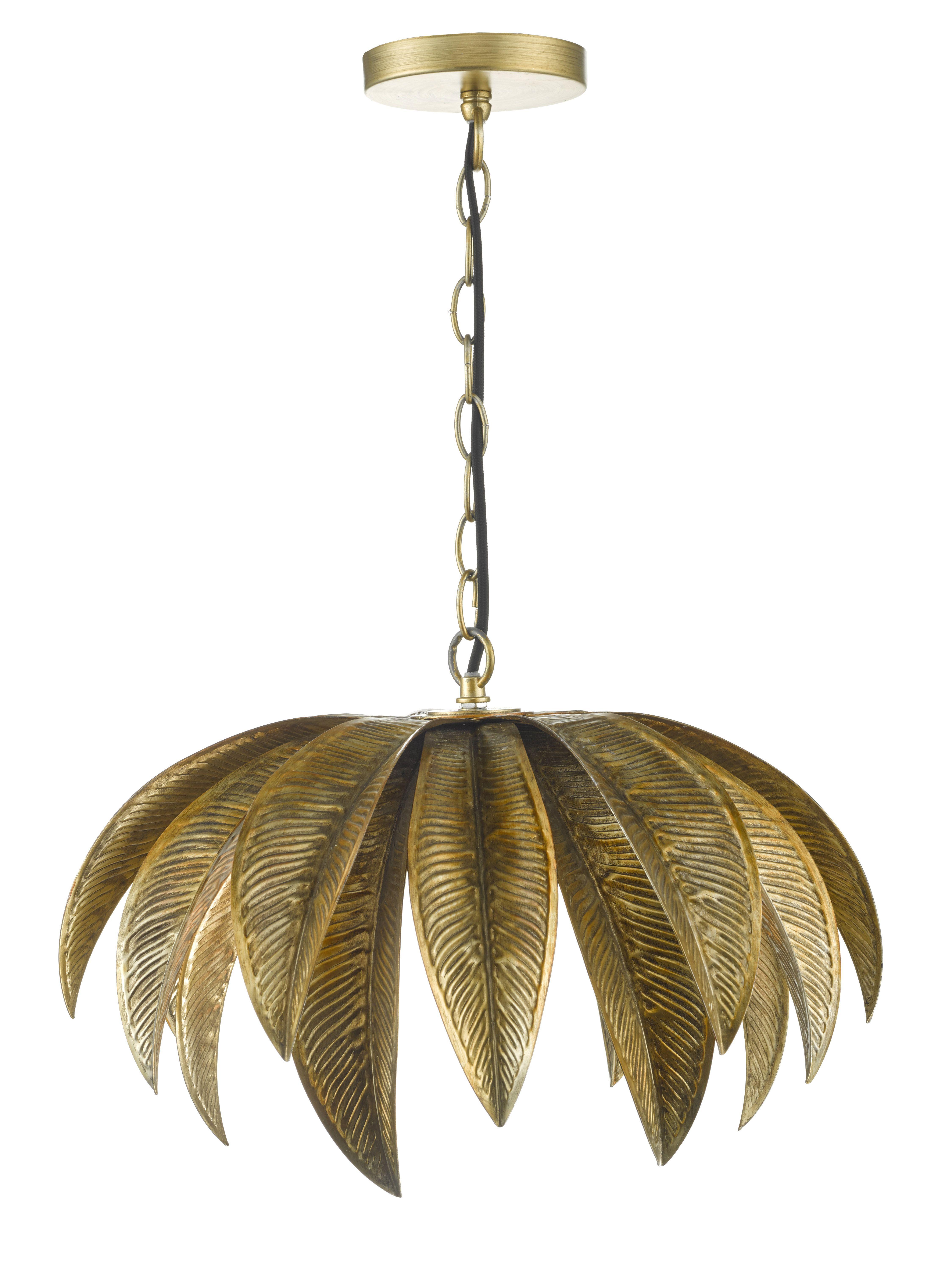 Home Collection - Gold Palm Leaf u0027Carau0027 Pendant Ceiling Light  sc 1 st  Pinterest & Cara Leaf Pendant #lightingideas #industrialinterior ... azcodes.com