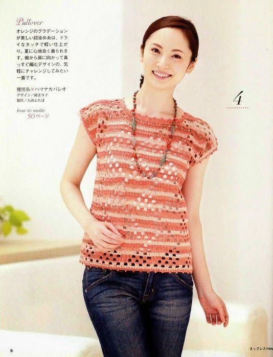 Pin de matilde gutierrez en blusas 2 | Pinterest | Blusas de crochet ...