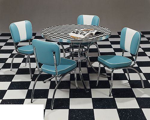 Acme Chrome Furniture Ltd Furniture West Dinette Sets