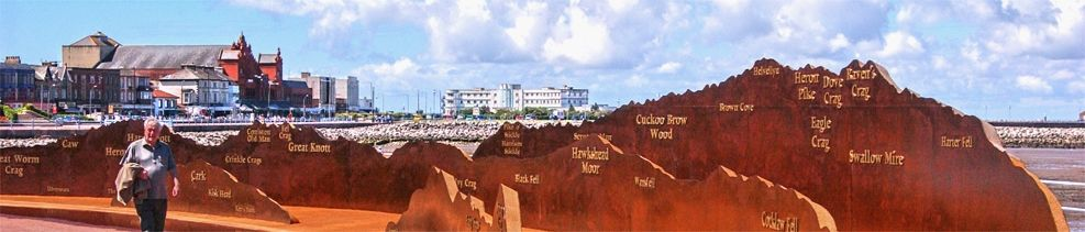 Panorama, part of the TERN project artworks in Morecambe