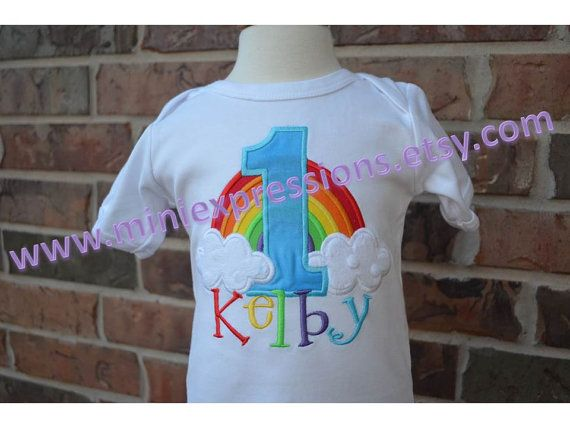 Personalized Rainbow Birthday Shirt On Etsy 2295