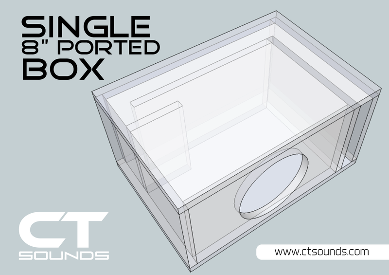 Single 8 Inch Ported Subwoofer Box Design Subwoofer Box Design Box Design Subwoofer Box