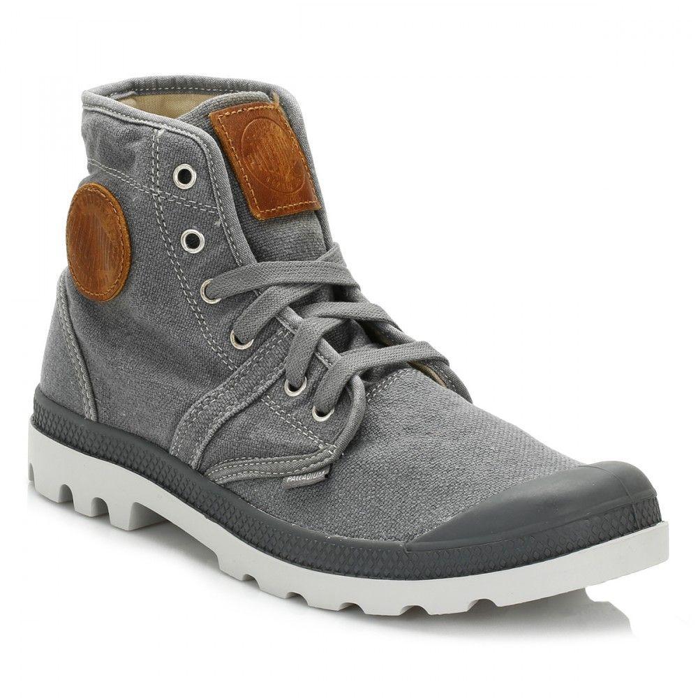 para PALLADIUM militar grises estilo Zapatos mujer qw1HUH