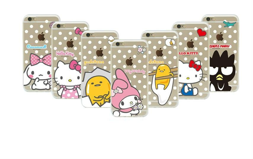 Hello kitty friends dot clear cell phone case cover