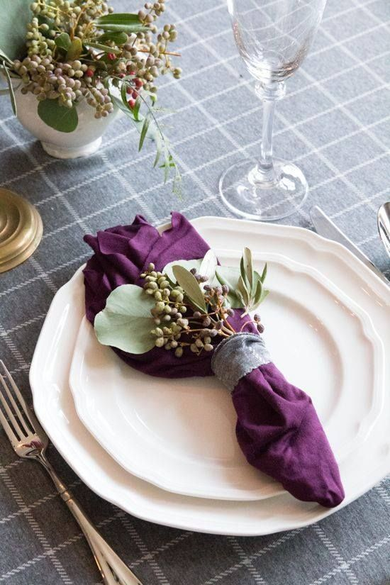 Using Purple Cream Green For Thanksgiving Table Thanksgiving Table Settings Thanksgiving Table Decorations Thanksgiving Table